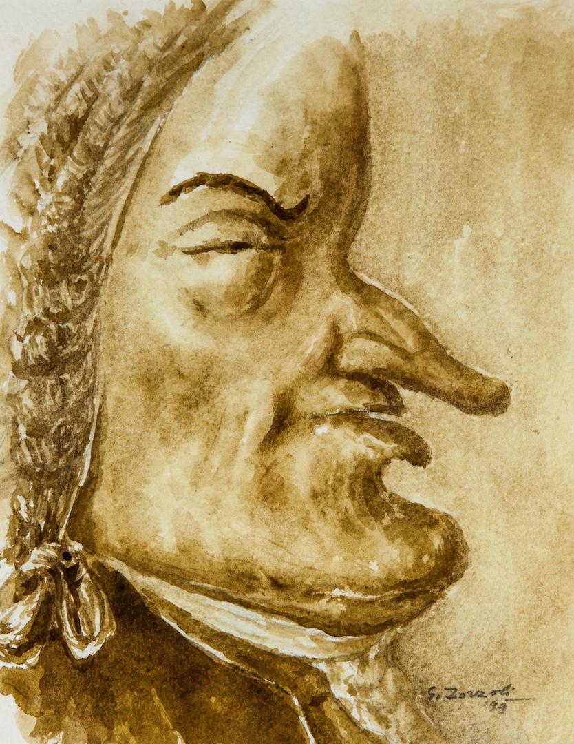 Johann Sebastian Bach, caricatura