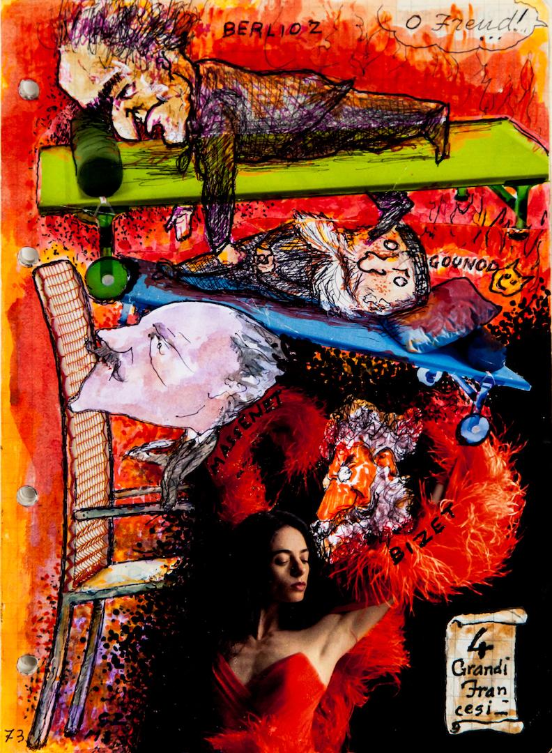 Berlioz Bizet Massenet, caricature