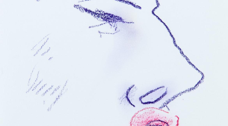 Maria Callas, profilo caricatura