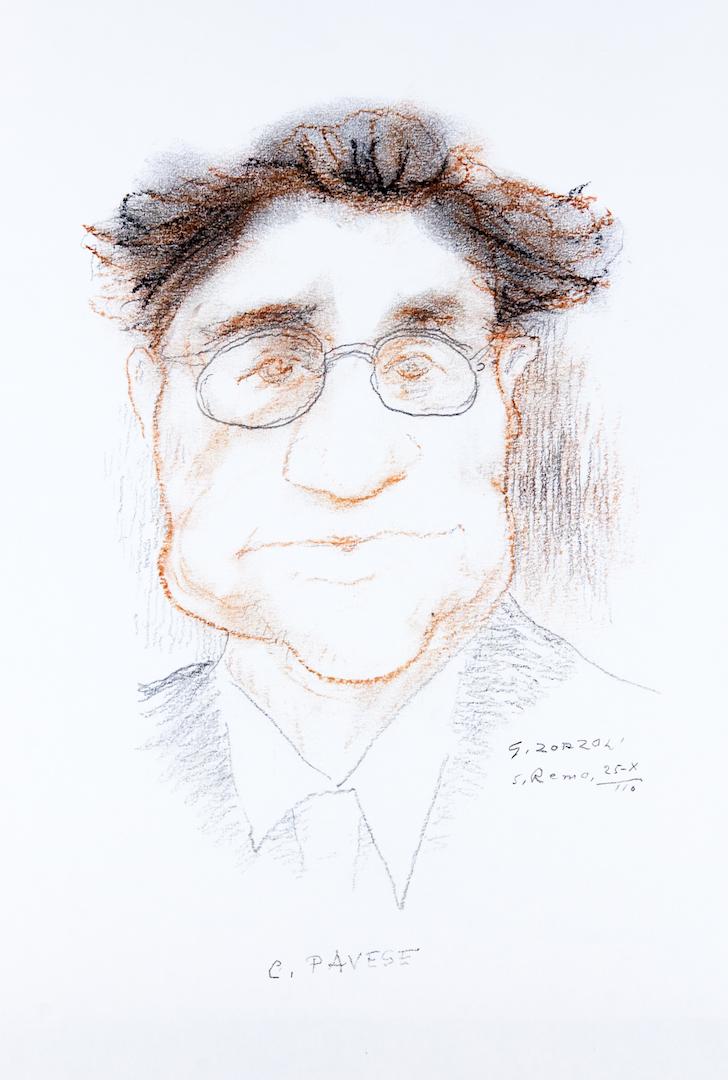 Cesare Pavese, caricatura