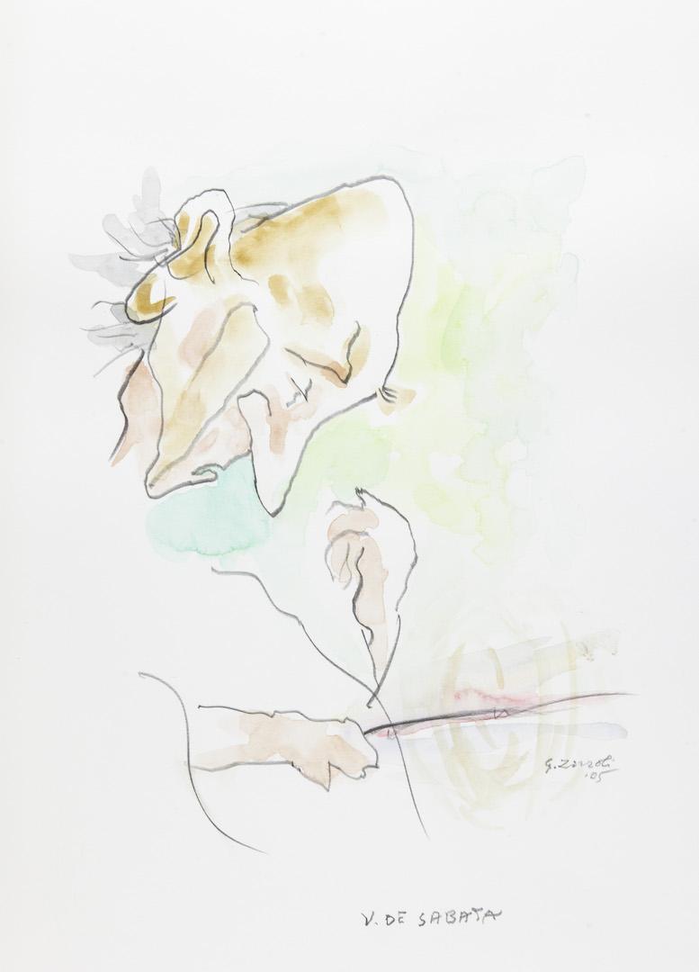 Victor de Sabata, caricatura