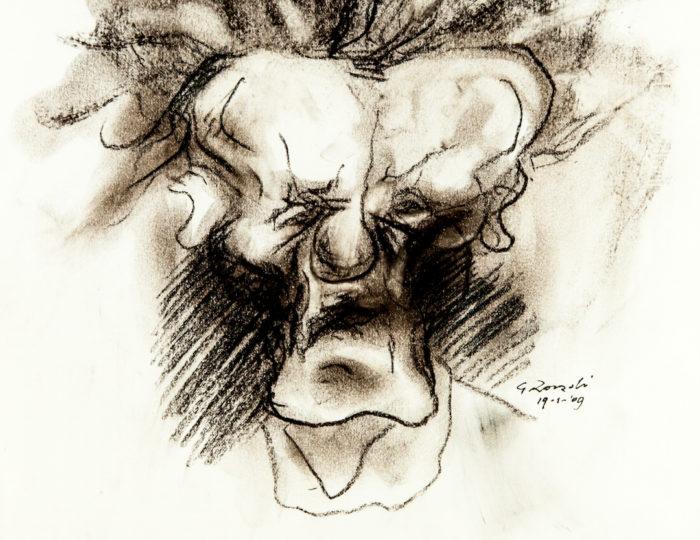 Eduardo De Filippo, caricatura