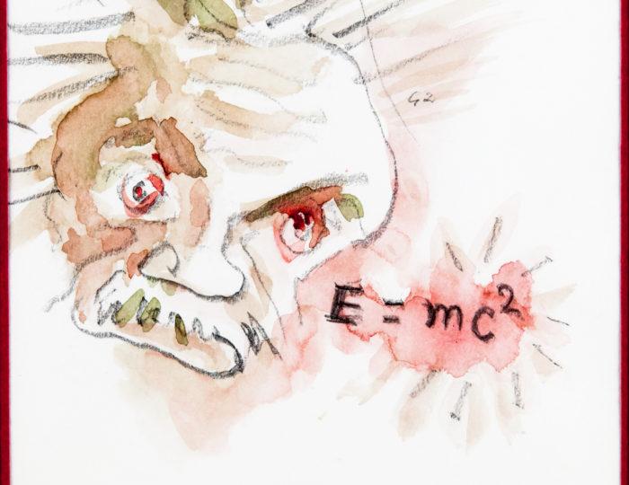 Albert Einstein, caricatura