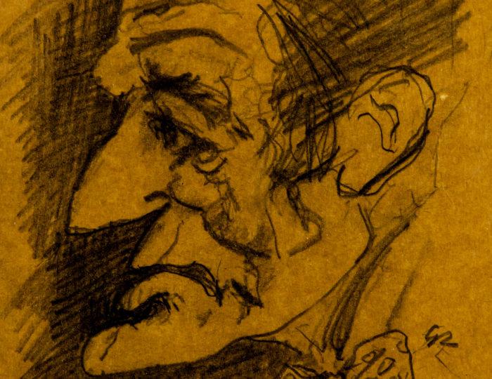 Vittorio Gassman, caricatura