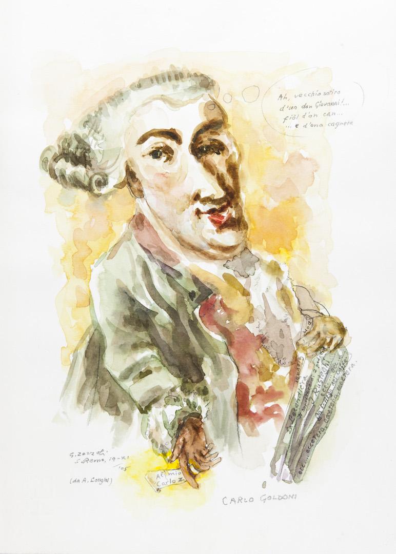 Carlo Goldoni, caricatura