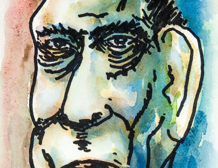 Graham Greene, caricatura