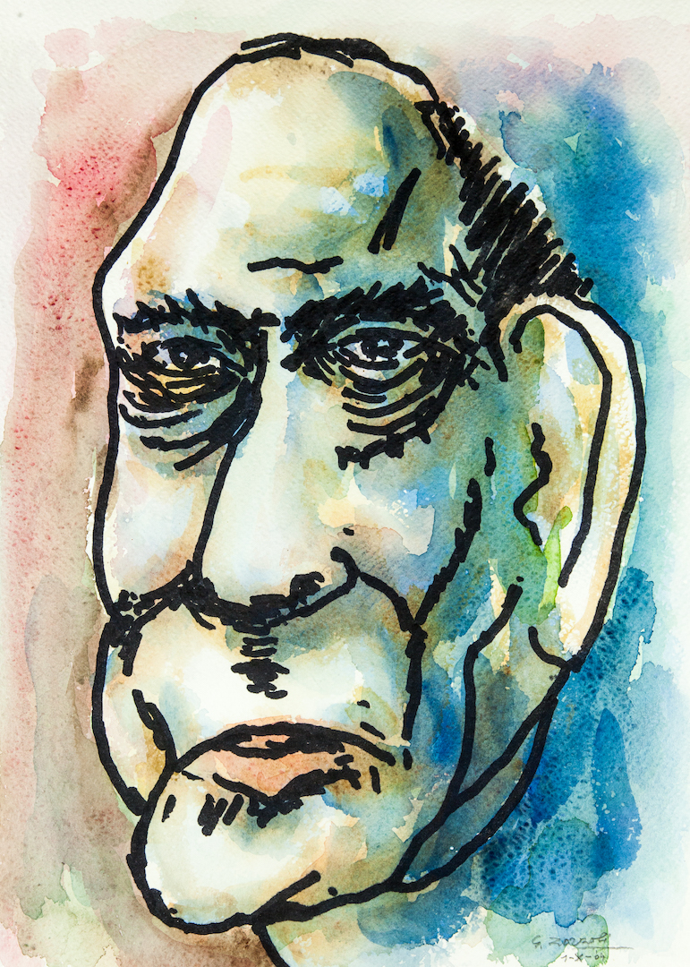 Graham Greene, caricatura