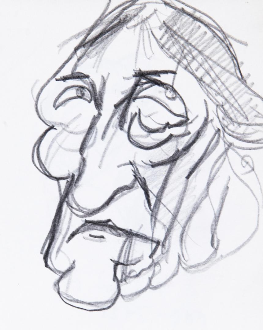 Georg Wilhelm Friedrich Hegel, caricatura