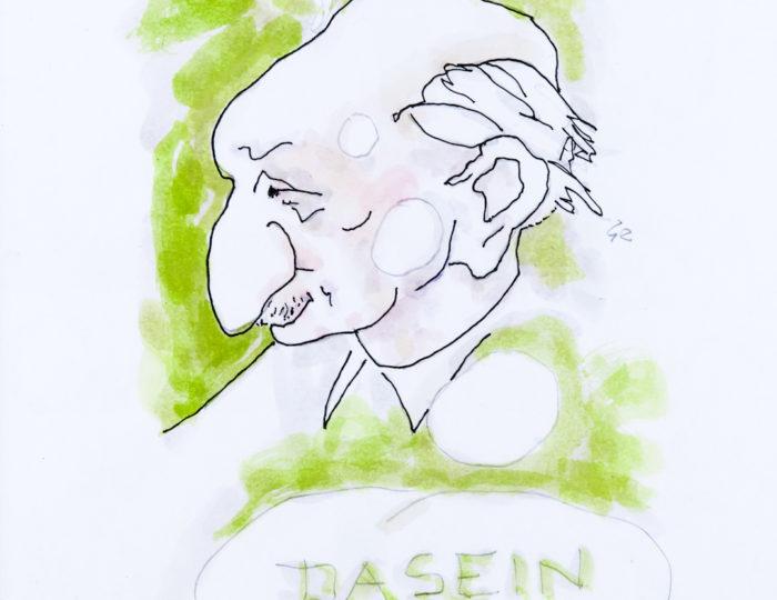 Martin Heidegger, caricatura