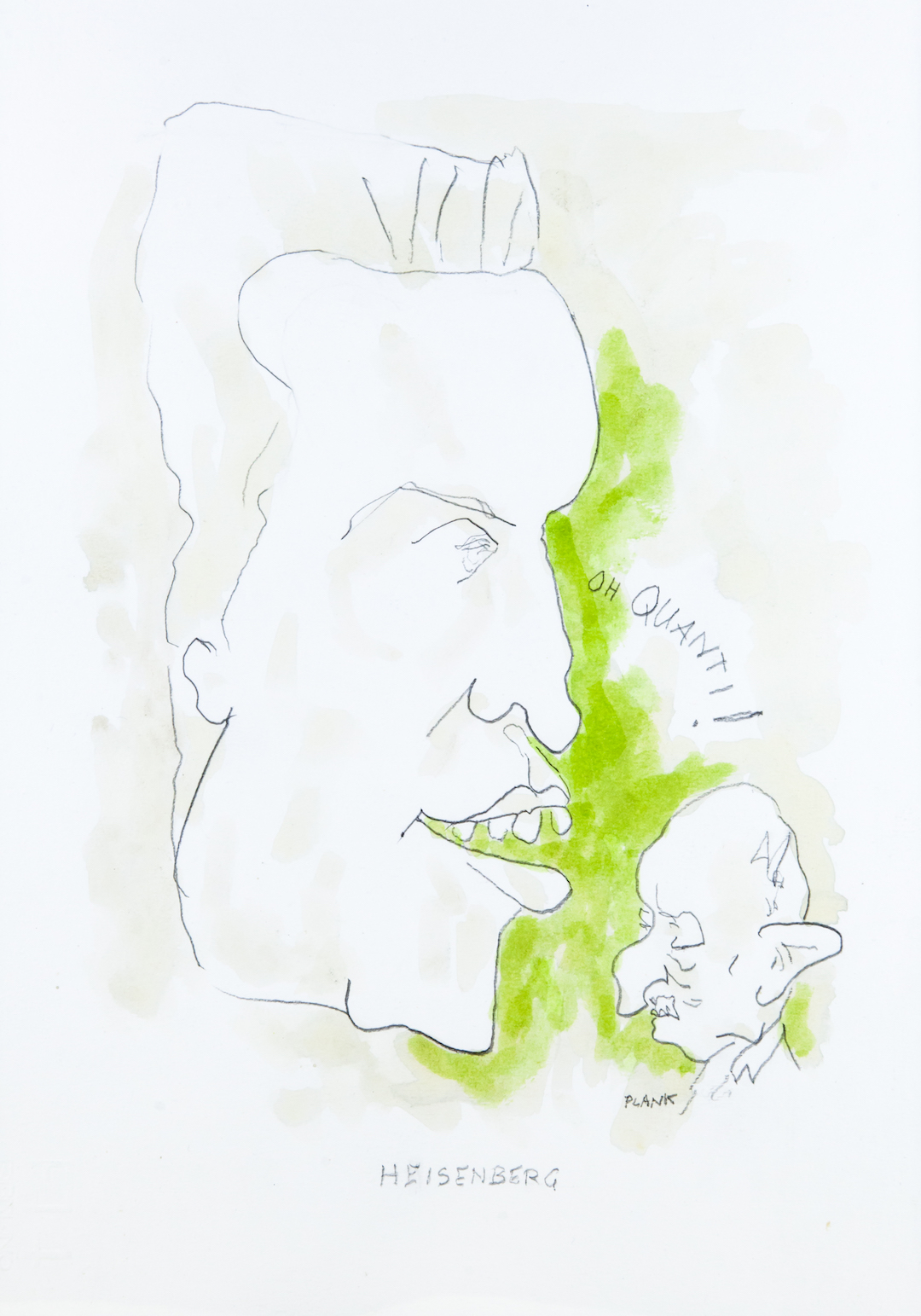 Werner Karl Heisenberg, caricatura