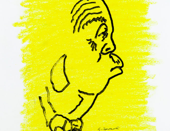 Alfred Hitchcock, caricatura