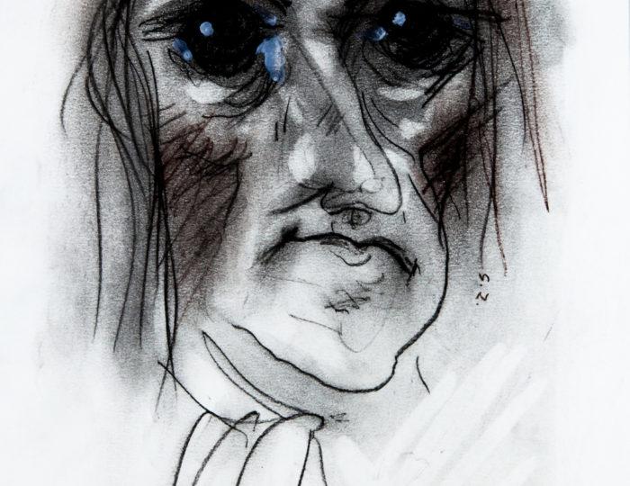 Gottfried Wilhelm von Leibniz, caricatura