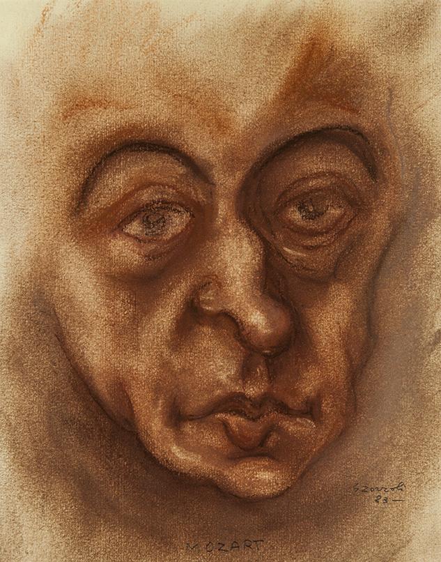 Mozart, caricatura