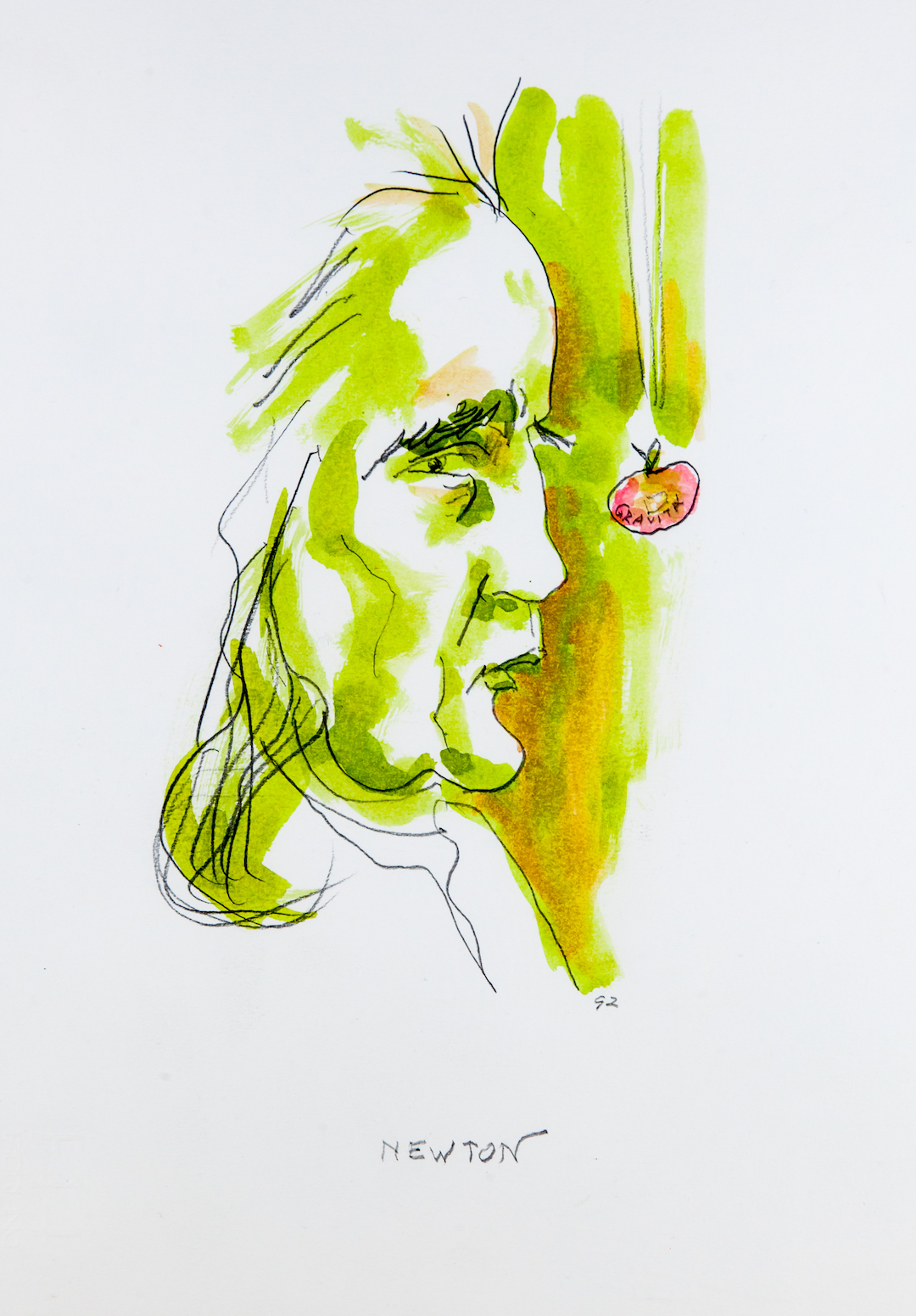 Isaac Newton, caricatura