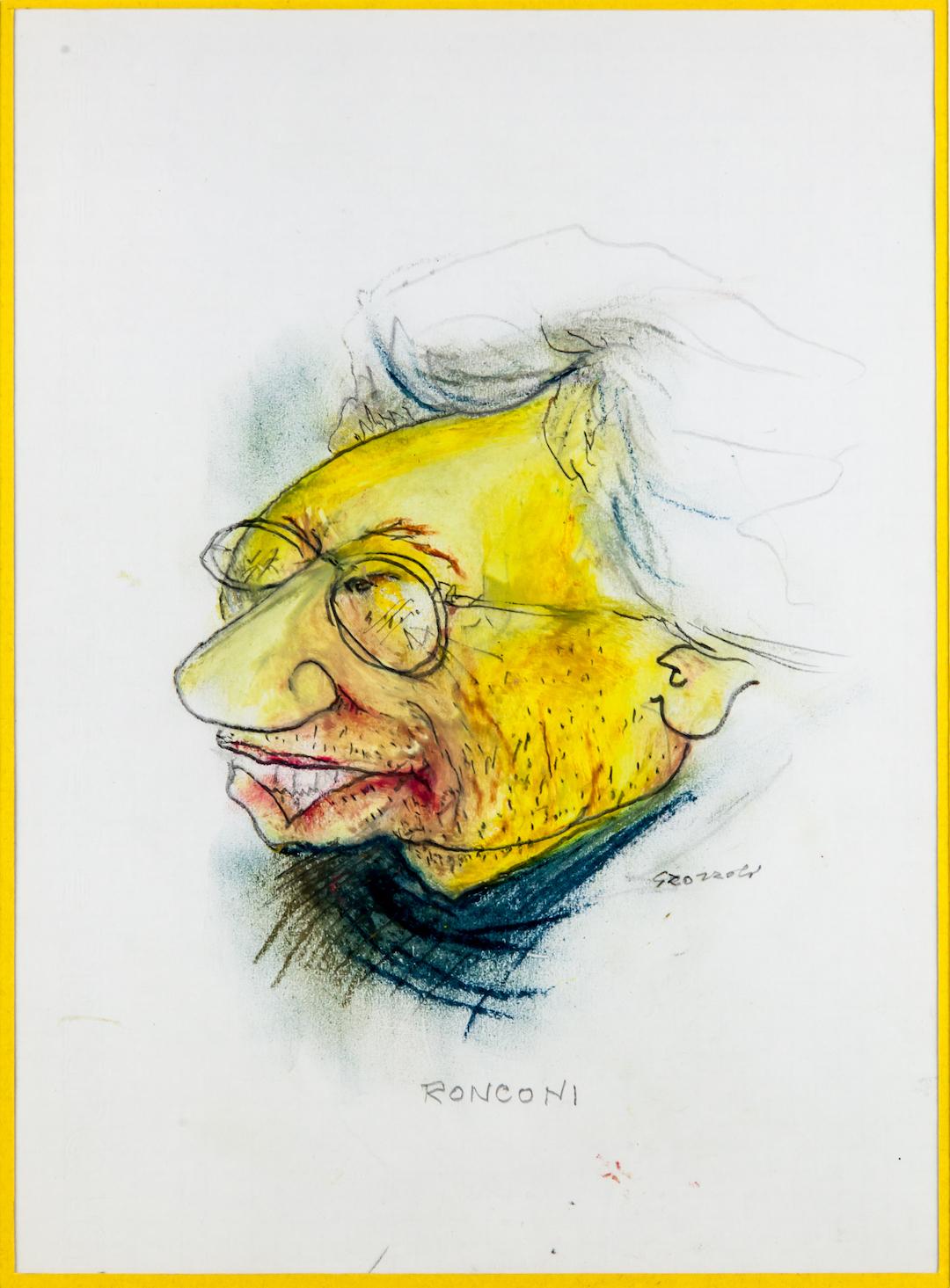 Luca Ronconi, caricatura
