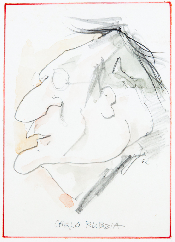 Carlo Rubbia, caricatura