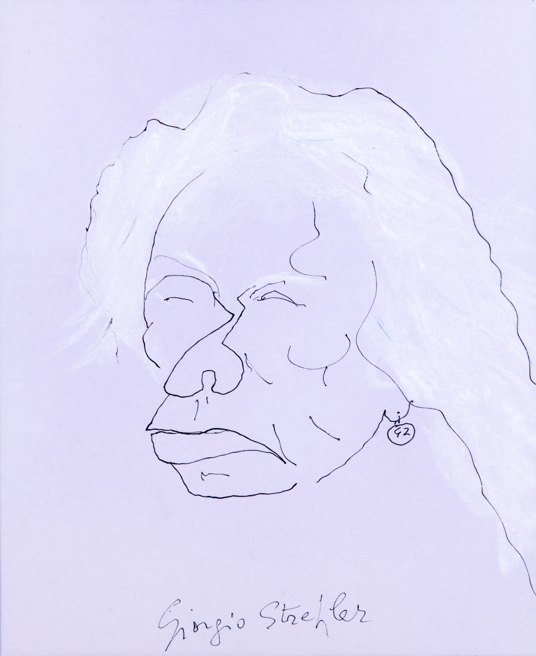 Giorgio Strehler, caricatura