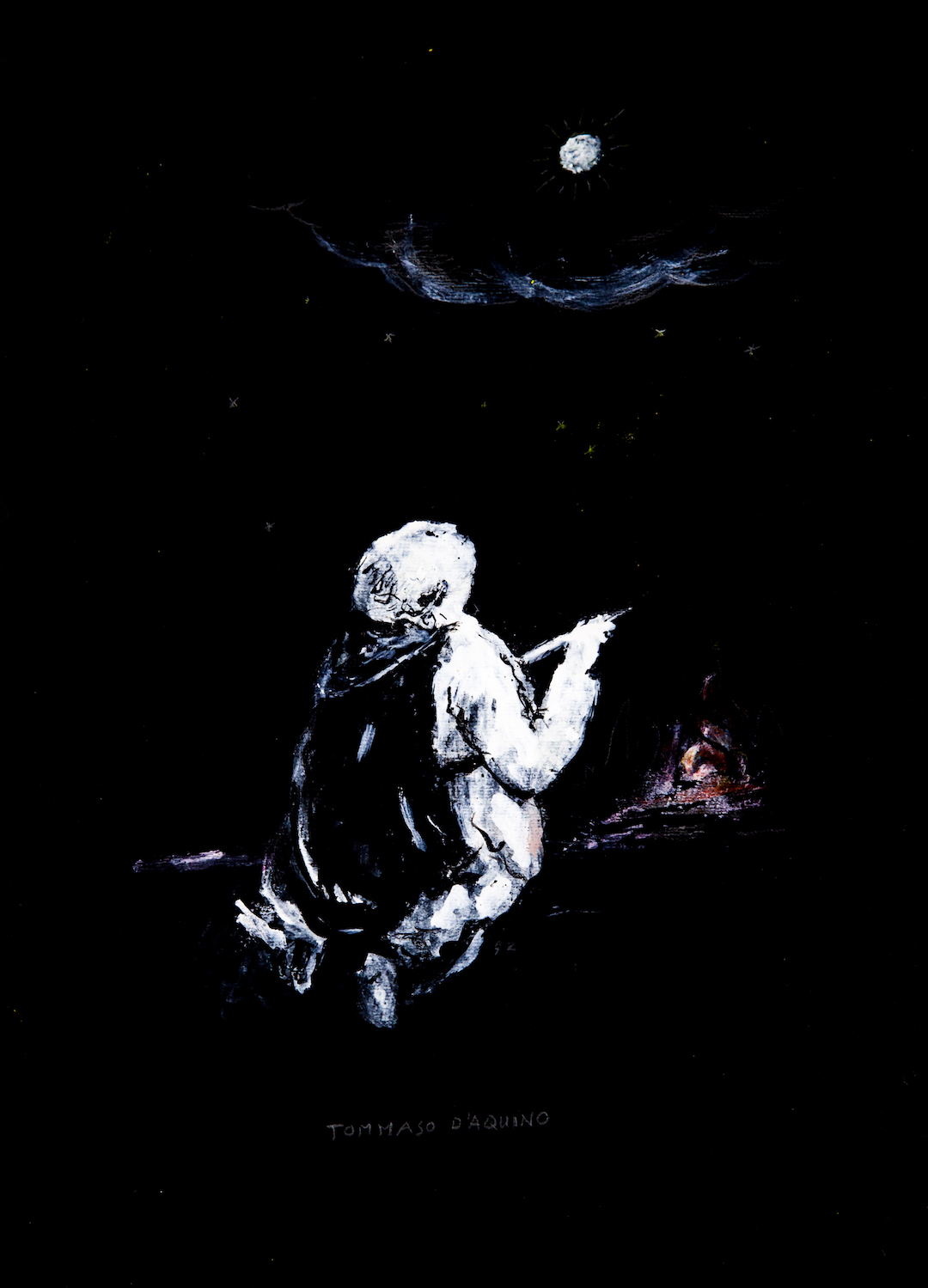 Tommaso d'Aquino in contemplazione