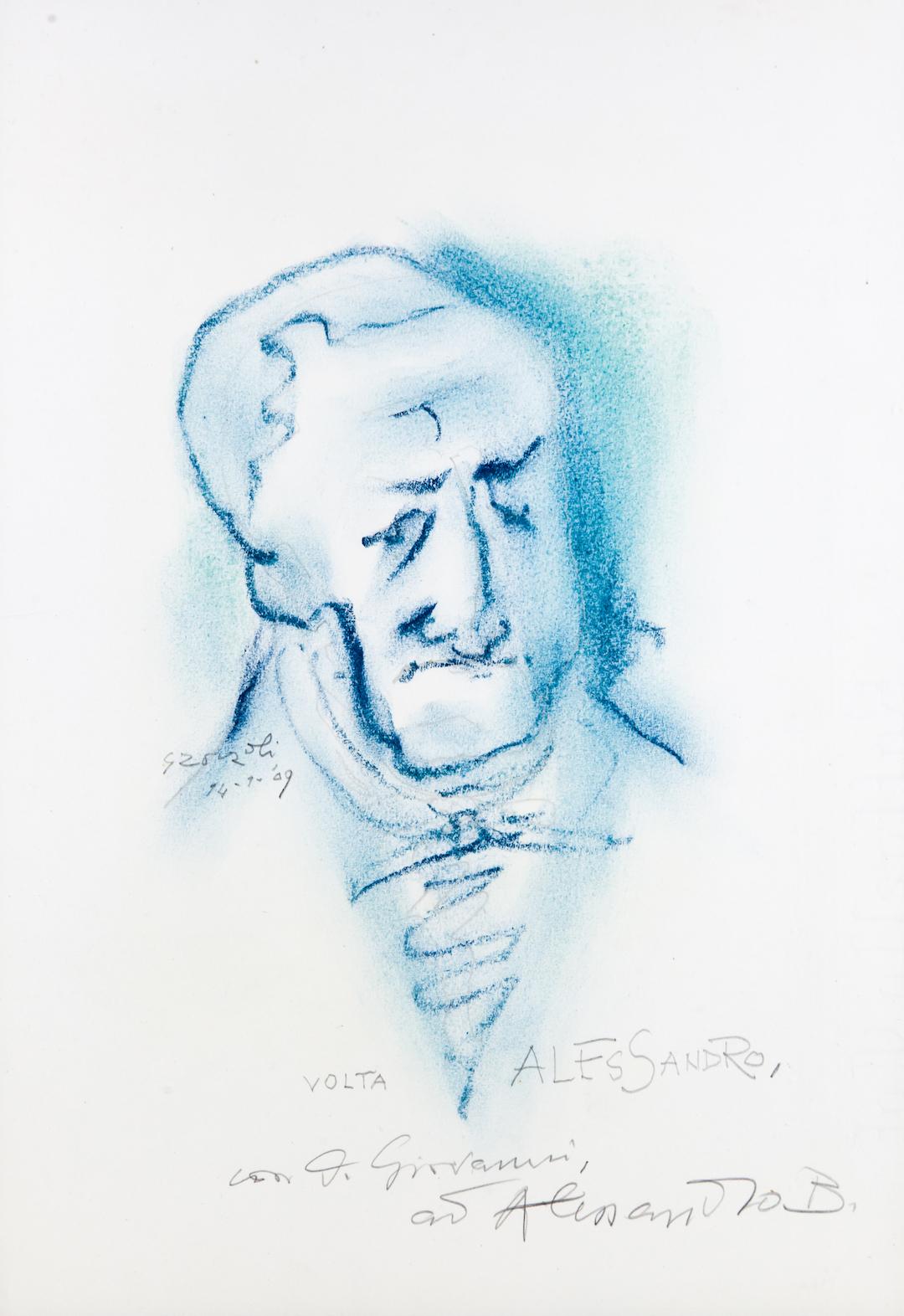 Alessandro Volta, caricatura